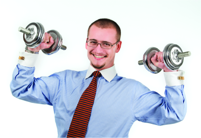 guy with dumbells