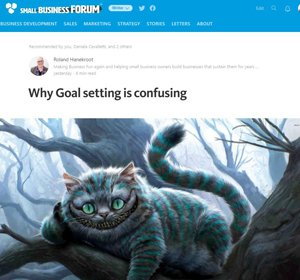 goal setting cat
