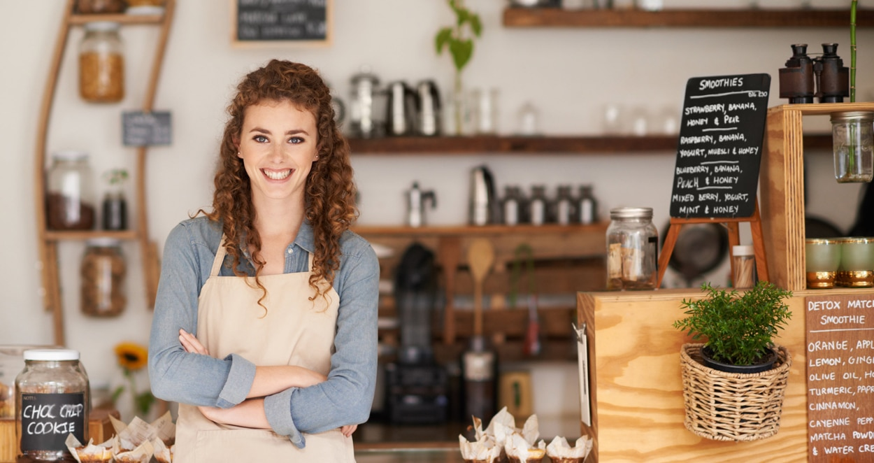 happy small business owner