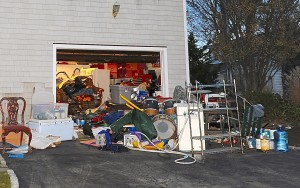overflowing garage
