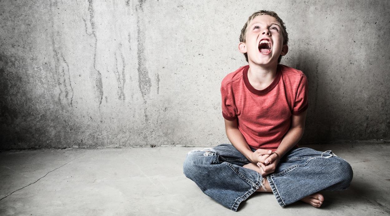throwing a tantrum